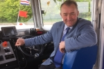 Simon Hart MP is pictured on board the new Glansteffan ferry which is linking Llansteffan and Ferryside for the first time in 60 years